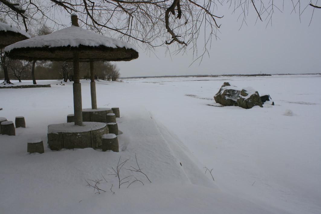 东北齐齐哈尔冬天风景
